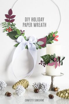 Paper Holiday Wreaths #diy #crafts