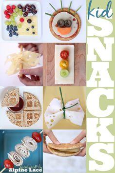 8 Easy Healthy Snack Ideas for Kids // 8 aperitivos sanos para niños Easy Healthy Dinners, Healthy Snacks For Kids, Easy Snacks, Snacks Ideas, Healthy Food, Lunch Ideas, Food Ideas, Crockpot, Lunch Snacks