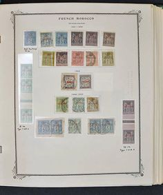 SUBSTANTIAL FRENCH MOROCCO COLLECTION, 1891/1955. Highly complete and mostly mint in mounts on Scott pages and replete with scores of error...