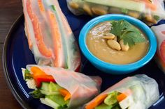 IMG 2556   Veggie Summer Rolls with Spicy Peanut Lime Sauce: Two Ways