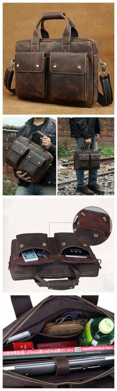 Handmade Professional Handmade Satchel Bag , Handcrafted Messenger Bag,Leather Bag For Men,Great Gift Him(C115) - Thumbnail 4