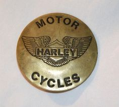 Motor Harley Davidson Motorcycles Wings Round Button / Pin Vintage Collectible #HarleyMotorCycles