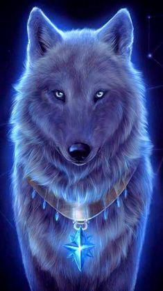 Wolf Wallpaper - My Wallpaper Dark Fantasy Art, Fantasy Wolf, Beautiful Fantasy Art, Pet Anime, Anime Animals, Cute Animals, Anime Art, Wolf Photos, Wolf Pictures