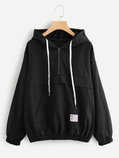 SheIn offers Kangaroo Pocket Elastic Hem Hoodie & more to fit your fashionable needs. Teen Fashion Outfits, Sporty Outfits, Trendy Outfits, Sweatshirt Outfit, Hoodie Sweatshirts, Trendy Hoodies, Jugend Mode Outfits, Mode Simple, Style Clothes