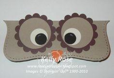 punch art owl topper