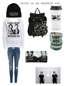 Supernatural Fangirl by makaylla-alexander on Polyvore featuring Frame Denim