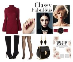 """classy"" by kaykaydabosss on Polyvore featuring Rosetta Getty, Jimmy Choo, Avenue, Abbott Lyon, Isabel Marant and Chloé"