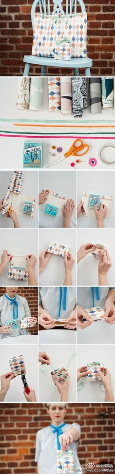 DIY gift bag with wrapping paper :)
