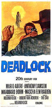 Deadlock (1970) mit Mario Adorf, Marquard Bohm, Anthony Dawson. Ein Film von Roland Klick. Auf dem Literaturfest ist Klick am 24.11.2014 zu Gast www.literaturfest-muenchen.de/navi2/forumautoren/  The Heart Is a Hungry Hunter   Ein Filmabend mit Roland Klick