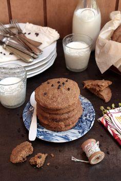 Divino Macaron: Cookies Suaves de Vainilla con Chispas de Chocolate