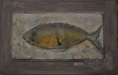 """""""Yellow fish"""" #доска, #акрил  Розміри: 25x40  #Живопис  2015 #wood #panel, #acrylic"""