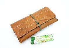 Tabakbeutel - Tabaktasche Tabakbeutel Dreherbeutel aus Leder - ein Designerstück von Monti-lederdesign bei DaWanda
