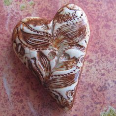 Rustic Stamped Heart by marlasmud on Etsy, $11.00