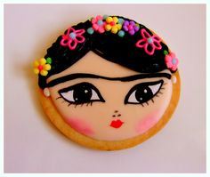 Frida Kahlo Cookies / #Frida #Cookiesdecoradas #FridaKahlo #Galletitasdecoradas #Decoratedcookies Galletita decorada Frida Kahlo