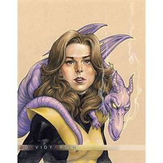 Kitty Pryde and Lockheed by David Yardin