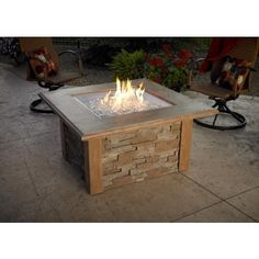 The Sierra #Fire #Pit is made with outdoor rated faux #ledgestone. Our new square burner is a great new look that is U/L Listed. The durable supercast top looks great and stands up to the outdoor elements.