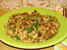 Salata de linte cu rosii sotate Risotto, Vegetarian, Cooking, Ethnic Recipes, Anna, Food, Bulgur, Salads, Cuisine