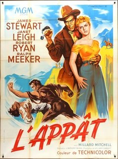 The Naked Spur (Anthony Mann, 1953) French design by Roger Soubie