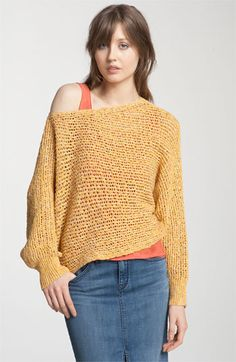 Free People Slouchy Open Knit Cropped Sweater