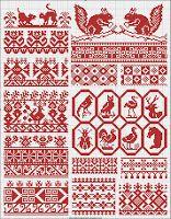 Free Easy Cross, Pattern Maker, PCStitch Charts + Free Historic Old Pattern Books: Russian Русский Cross Stitch Borders, Cross Stitch Charts, Cross Stitch Embroidery, Cross Stitch Patterns, Easy Cross, Pattern Books, Couture, Pixel Art, Needlework
