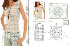 Moda femenina en crochet ~ Dos Agujas y Crochet