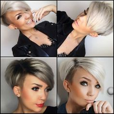 Very modern pixie cuts for women 2018 - hairstyles trend-Pixie cuts are perfect ., Very modern pixie cuts for women 2018 - hairstyles trend-Pixie cuts are perfect for you. Search our gallery for the perfect hairstyle! Pixie Hair f. Short Hair Undercut, Short Pixie Haircuts, Undercut Hairstyles, Pixie Hairstyles, Cool Hairstyles, Short Haircut, Funky Short Hair, Short Hair Cuts For Women, Short Hair Styles
