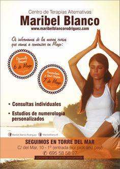 Centro de terapias alternativas Maribel Blanco informa sobre los nuevos cursos de Mayo