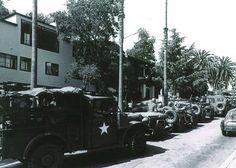 National Guard outside Ridge House, 1960s.
