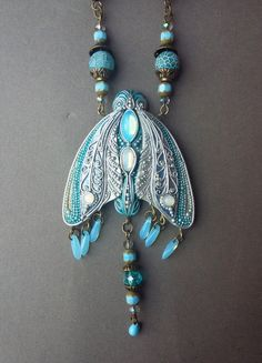Fabulous jewelry  pendant butterfly fairy by creativemoss on Etsy