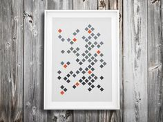 modern cross stitch pattern ++ geometric retro diamond mosaic ++ pdf INsTAnT DOwNLoAD ++ diy hipster ++ handmade design