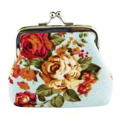 Wallets New Fashion Casual Women Coin Purses Lady Retro Vintage Canvas Flower Small Wallet Hasp Purse Clutch Bag Female Bolsa