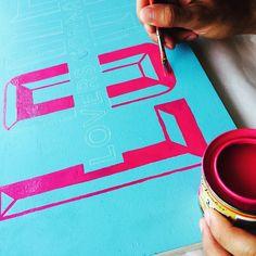 Tuesday AM color palette  #handlettering #lettering #painting #oneshot #letteringenamel #signpainter #goodtype #surfacetype