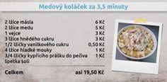 Recepty Ládi Hrušky - Medový koláček za 3,5 minuty Oatmeal, Breakfast, Food, The Oatmeal, Morning Coffee, Rolled Oats, Essen, Meals, Yemek