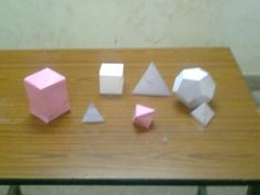Platonic Solids made by students