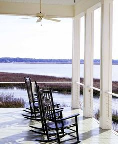 I think one of those rocking chairs has my name on it!  Low Country - South Carolina