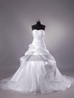 White Pleats Wedding Dress Shop uk