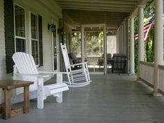 A front porch - a definite on the wish list!