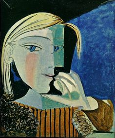 """The portrait of Maar is in contrast to his painting of another of his lovers Marie-Thérese Gilot of whom he is reported to have said : """"I love you more than the taste of your mouth, more than your look, more than your hands, more than your whole body, more and more and more and more."""" 