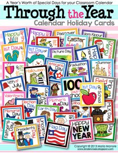calendar holiday cards in every holiday and school-occasion you can think of!