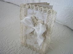 Vintage Lace Hand Tatted Scrapbook Journal Book Made by lllangel