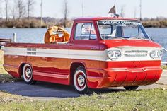 The Chevrolet Corphibian is a one-off amphibious vehicle produced by a couple of ambitious Chevy engineers in their spare time in the early It was Chevy Pickups, Chevy Trucks, Pickup Trucks, Amphibious Vehicle, Wheels And Tires, Indy Cars, Vintage Trucks, Classic Cars Online, Custom Trucks