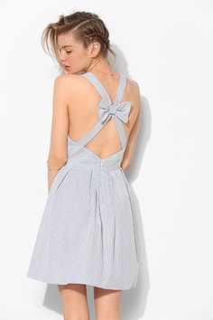 Currently Craving: Spring Sundresses BDG Bow-Back Stripe Sweetheart Dress as found on Lauren Conrad