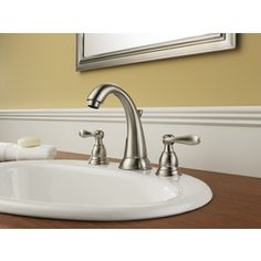 The Delta Brilliance Stainless Direct For Windemere Widespread Bathroom Faucet With Pop Up Drain Embly