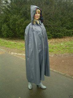 Looking lovely in her grey klepper cape