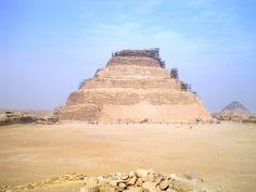 The step-pyramid of Djoser in Saqqara.