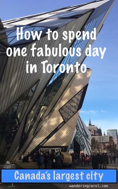 Spending one day in Toronto, Canada, offers fabulous possibilities. Here is the perfect travel itinerary including scenic views, top museums, shopping and the best attractions and passes.