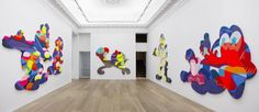 """KAWS View of the exhibition """"PASS THE BLAME"""" in 2013 at Galerie Perrotin New York (U.S.A.)"""