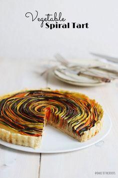 Vegetable Spiral Tart on http://baketotheroots.de/vegetable-spiral-tart/