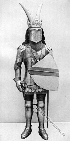 Ritterrüstung des 15. Jahrhunderts. Soldat des Mittelalters.