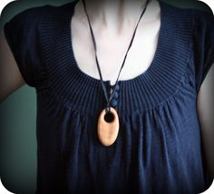 Wooden Teething Necklace Organic Wood for Mom  Tear by Rewoodtoys, $20.00